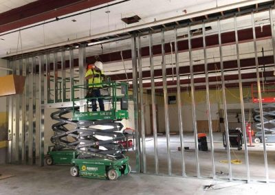 Scafco steel being installed at Memorial Middle School in Albany